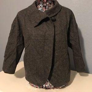 J. Crew Gray Blazer Jacket Sz 8 Career wool